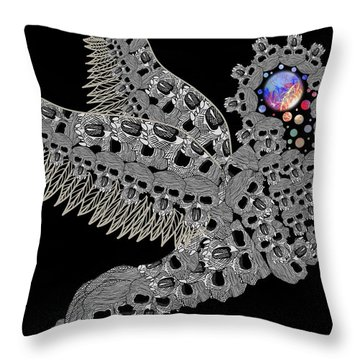 Angel Of Death Light With Worlds To Destroy Save Throw Pillow