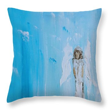 Angel Of Simplicity Throw Pillow