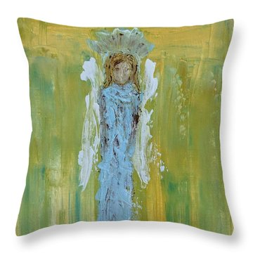 Angel Of Vision Throw Pillow