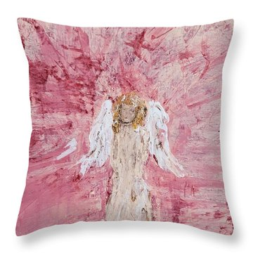Angel Was Lost But Now Is Found  Throw Pillow