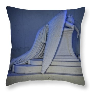 Angel Weeping Throw Pillow