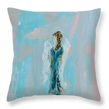 Angel With Character Throw Pillow