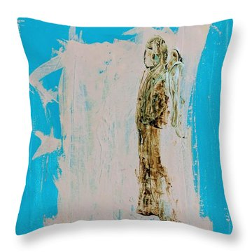 Angel With His Dog Wings Throw Pillow