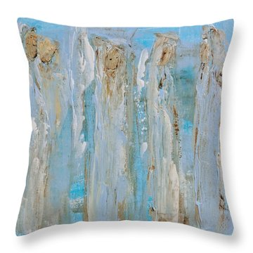Angels Coming Together Throw Pillow