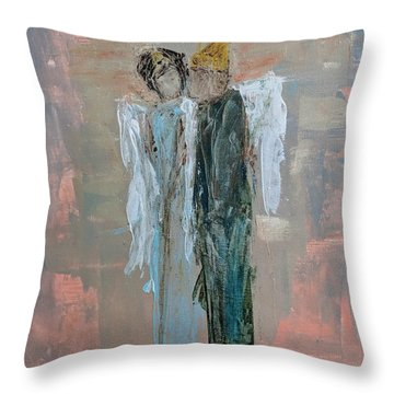 Angels In Love Throw Pillow