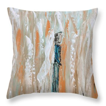 Angels In The Midst Of Every Day Life Throw Pillow