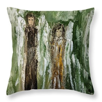 Angels For Support Throw Pillow