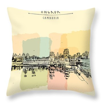 Angkor Throw Pillows