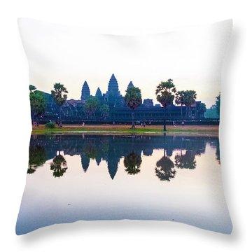 Angkor Wat Reflections Throw Pillow