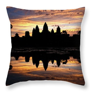 Angkor Wat Sunrise Throw Pillow