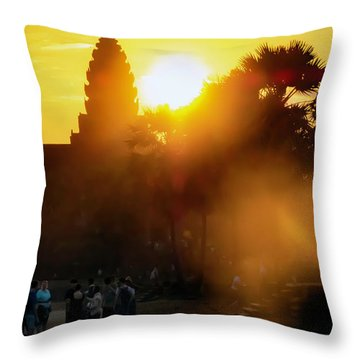 Angkor Wat Sunrise - Siem Reap, Cambodia Throw Pillow