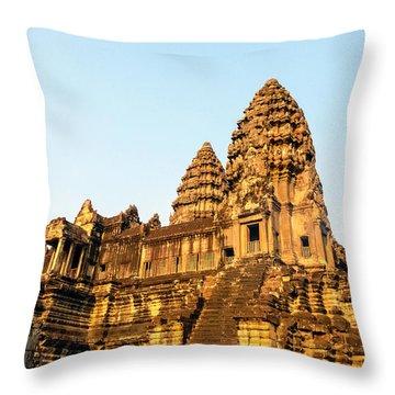 Angkor Wat Temple 1, Cambodia Throw Pillow
