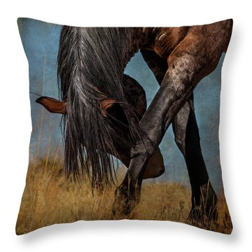 Angles Of The Horse Throw Pillow