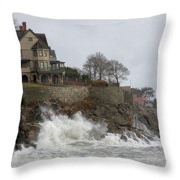 Angry Splash Throw Pillow