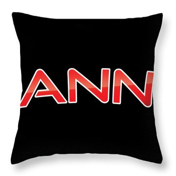 Throw Pillow featuring the digital art Ann by TintoDesigns