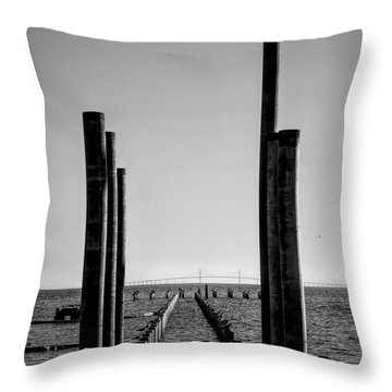 Anna Maria City Pier Rebuild 2019 Throw Pillow