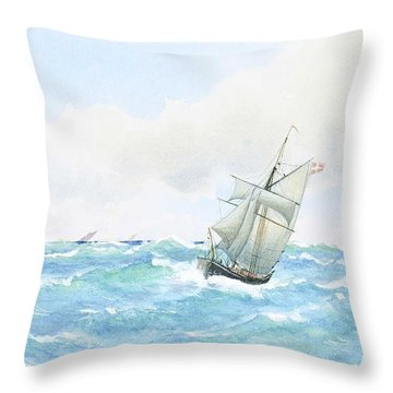 Anna Palm  1859-1924  From Kattegat Throw Pillow
