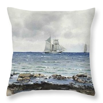 Anna Palm De Rosa - Kalmarsund Throw Pillow