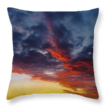 Another Colorful Sky Throw Pillow
