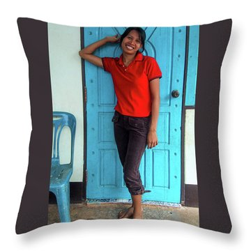 Another Lovely Smile Throw Pillow