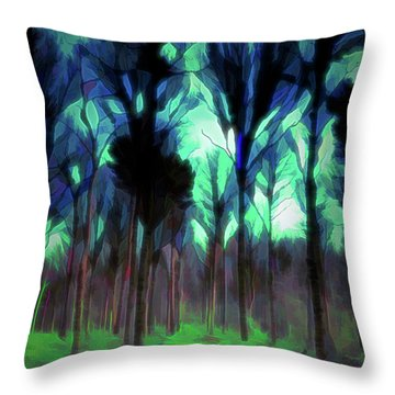 Another World - Forest Throw Pillow