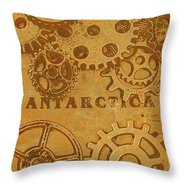 Antarctech Throw Pillow