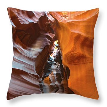Throw Pillow featuring the photograph Antelope Canyon Glorious by Mark Duehmig