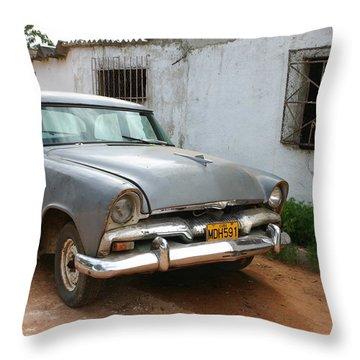 Antique Car Grey Cuba 11300501 Throw Pillow
