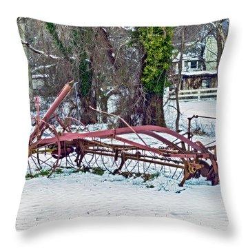 Antique Farm Equipment Throw Pillow