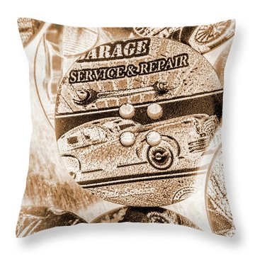 Antique Service Industry Throw Pillow