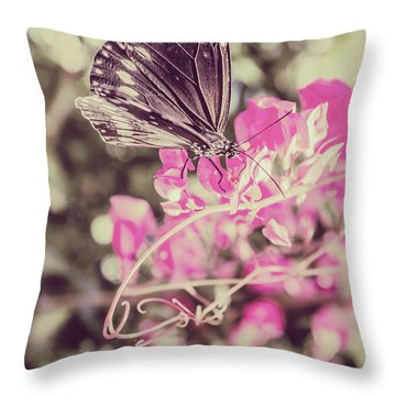 Antique Spring Throw Pillow