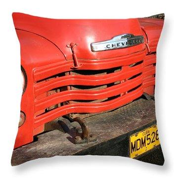 Antique Truck Red Cuba 11300502 Throw Pillow