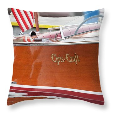 Throw Pillow featuring the photograph Antique Wooden Boat 1305 by Rick Veldman