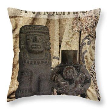 Antiquities Throw Pillow