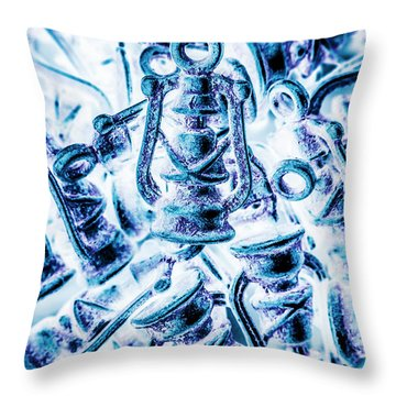 Antiquity Blue Throw Pillow