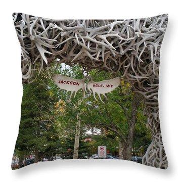Antler Arch  Throw Pillow