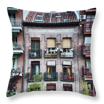 Apartments In Madrid Throw Pillow