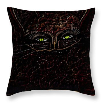 Appearance Of The Mystic Cat Throw Pillow