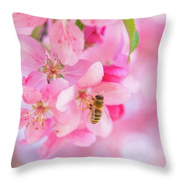 Apple Blossom 2 Throw Pillow