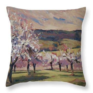Apple Blossom Geuldal Throw Pillow