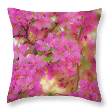 Apple Blossoms C Throw Pillow