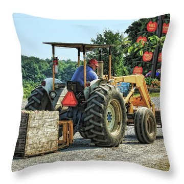 Throw Pillow featuring the photograph Apple Orchard by Tatiana Travelways