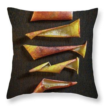 Apple Peel Throw Pillows