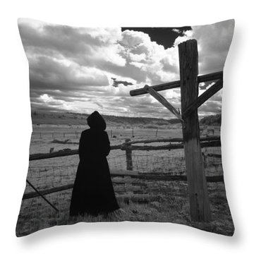 Throw Pillow featuring the photograph Appointment by Carl Young