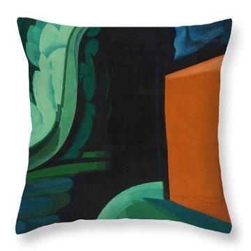 Cube House Throw Pillows