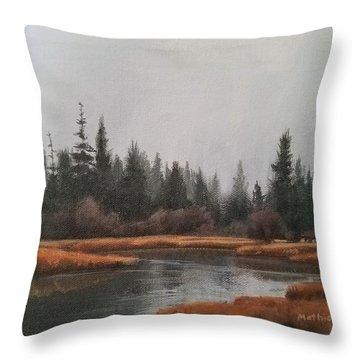 Approaching Flurries Throw Pillow