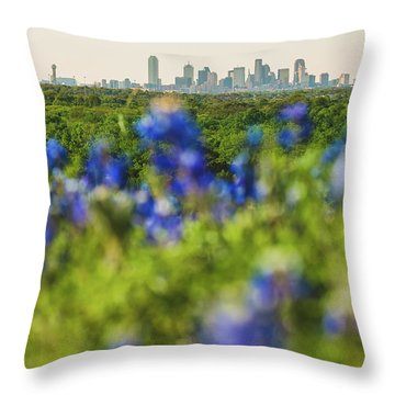 April In Dallas Throw Pillow