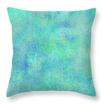 Aqua Batik Print Coordinate Throw Pillow