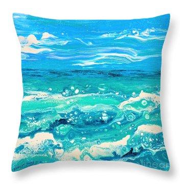 Aqua Seafoam Throw Pillow