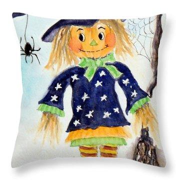 Arachnid Angelica Throw Pillow